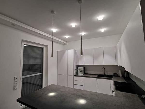 Beleuchtung einer Küche